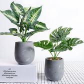 創意仿真植物小盆栽盆景室內辦公桌綠植擺件房間家居飾品裝飾擺設  igo 居家物語