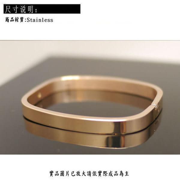 ╭☆ Silver shop ☆╯鈦鋼 方手鐲 亮面 [ stb004 ]