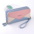 手拿包 女士錢包長款2020新款雙拉鏈大容量小清新潮流時尚手拿零錢手機包