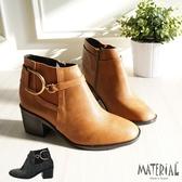 短靴 方頭側鬆緊短靴 MA女鞋 T9398
