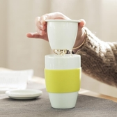 泡茶杯官帽創意帶蓋過濾茶杯陶瓷杯子個人泡茶杯馬克杯便攜茶水分離水杯 科技藝術館