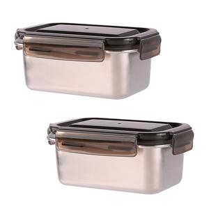 鮮味扣316不鏽鋼長型保鮮盒1000ml x2