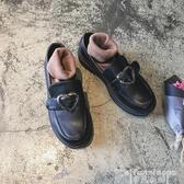 熱銷日系鞋復古圓頭英倫女鞋學院風日系平底甜美娃娃學生淺口愛心大頭小皮鞋