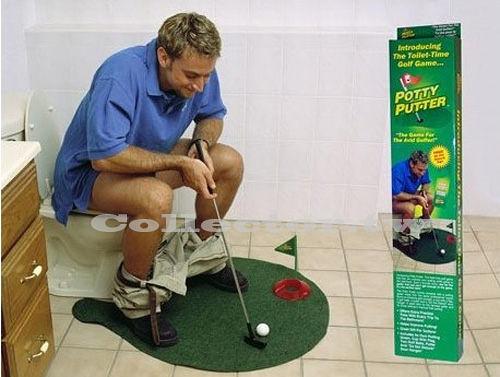 99免運-Potty Putter 廁所高爾夫 馬桶高爾夫球 迷你高爾夫玩具
