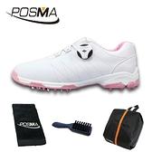 高爾夫球鞋 女士鞋子 防滑防水 自動旋轉鞋帶鞋 GSH082WPNKSPN