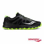 SAUCONY CALIBER TR 戶外越野鞋款-黑X白X螢光綠
