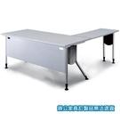 KRS-167G 主桌+ KRS-4510G 側桌 灰桌板 銀桌腳 辦公桌 /組