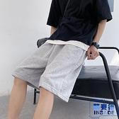 休閒短褲男韓版百搭寬鬆直筒過膝運動五分褲【英賽德3C數碼館】