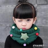 兒童保暖圍巾-保暖兒童圍巾秋冬季韓版男童女童針織毛線脖套寶寶滿天星卡通圍脖 多麗絲