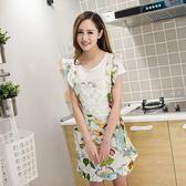 單層韓版時尚圍裙