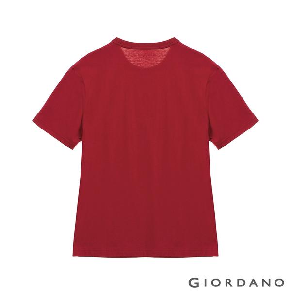 【GIORDANO】男裝STREE LIFE印花T恤 - 41 標誌紅
