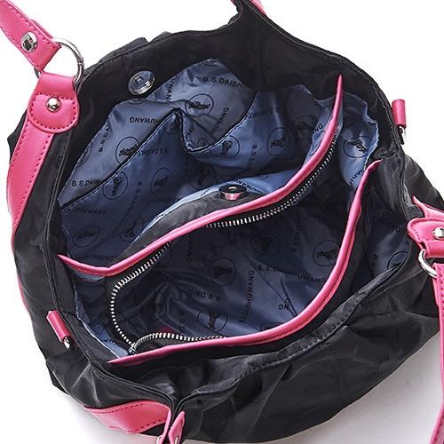 B.S.D.S冰山袋鼠 - 香巧班尼 - 托特購物造型手提側背兩用包 - 魔力黑【604K】