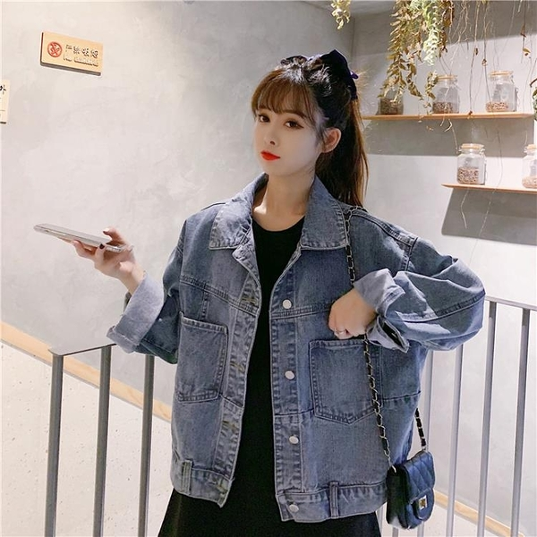 限時特銷 春秋季年新款韓版復古寬松開衫長袖牛仔外套女百搭上衣ins潮