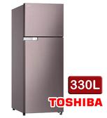 【TOSHIBA東芝】330公升雙門變頻冰箱GR-A370TBZ(N)