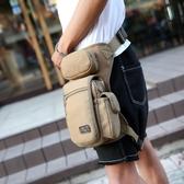男士腰腿包 軍迷多功能騎行帆布腿包 潮男包休閒戶外腰包 戰術包 黛尼時尚精品
