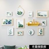 現代簡約式客廳裝飾畫綠植小清新風沙發背景墻掛畫北歐餐廳抽 快速出貨