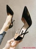 高跟鞋女新款春秋仙女細跟性感法式少女百搭淺口漆皮尖頭單鞋CY潮流