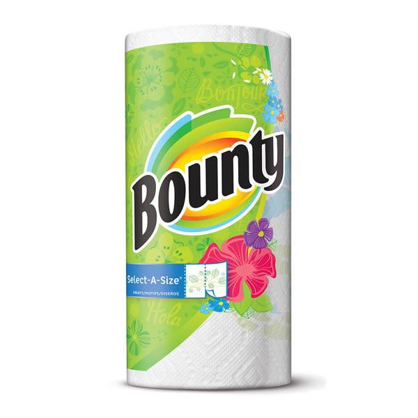 美國 Bounty廚房清潔紙巾(彩色隨意撕) 131張/入