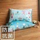 鴻宇 防蟎枕套2入 萌萌兔藍 防蟎抗菌 美國棉授權品牌 台灣製2100