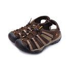 ARRIBA 織帶護趾束繩涼鞋 咖啡 6...