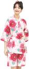 Nishiki【日本代購】和式清涼居家服 睡衣 上下套裝 棉100%-桜に麻の葉
