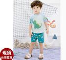 草魚妹-D32兒童泳衣猛龍短袖兒童泳衣小朋友游泳衣正品附帽,售價790元