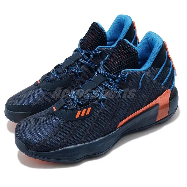 adidas 籃球鞋 Dame 7 GCA 藍 橘 男鞋 Lights Out 里拉德 Lillard 運動鞋 【ACS】 FZ1103