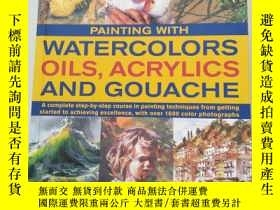 二手書博民逛書店WATERCOLORS罕見OILS,ACRYLICS AND G