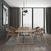 訂製實木會議桌長條桌子工作台簡約現代工業風餐桌辦公桌會議桌椅組合YJT 暖心生活館
