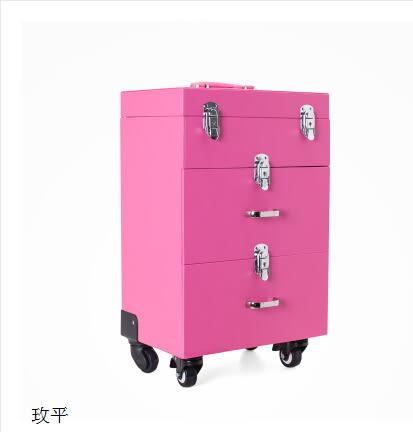 專業大號美甲箱拉杆化妝箱萬向輪多層半永久紋繡化妝箱跟妝工具箱  平常款