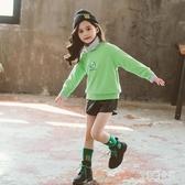 女童衛衣秋冬裝新款韓版中大兒童女孩中長款加絨加厚洋氣上衣 yu9178【艾菲爾女王】