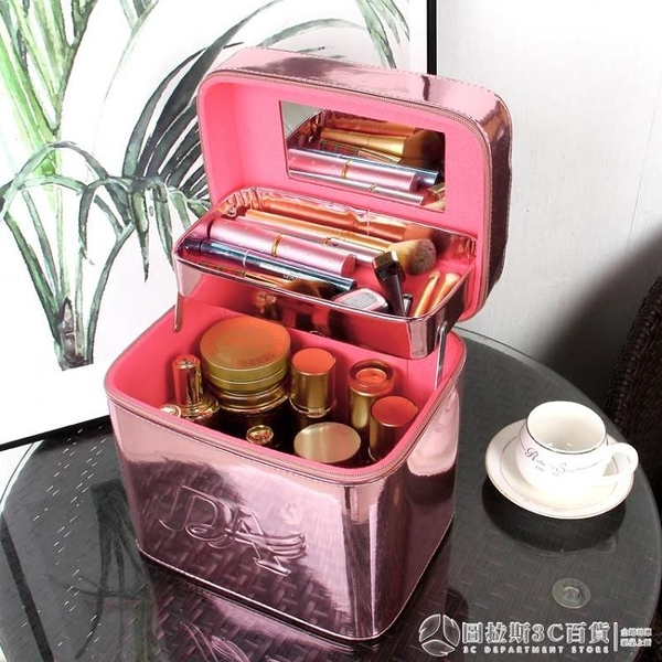 收納包 韓國手提化妝包 新款大容量便攜包 網紅ins風 超火收納盒化妝箱 圖拉斯3C百貨