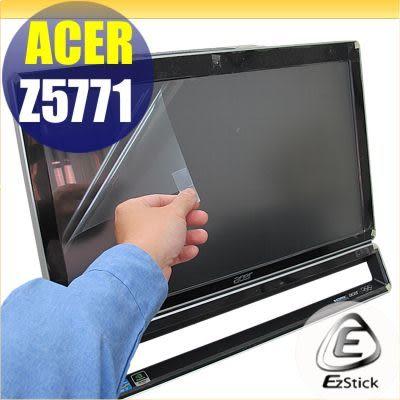 【EZstick】ACER AIO Z5771 23.6吋寬專用LCD靜電式霧面螢幕貼(多點觸控專用 滑順型)另有客製化尺寸服務