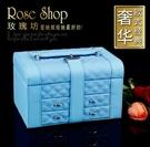 首飾盒 歐式木質公主高檔帶鎖復古飾品盒首...