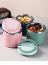 超長保溫飯桶小飯盒圓型上班族1人便攜粥碗燜燒壺罐湯杯便當餐盒 果果輕時尚