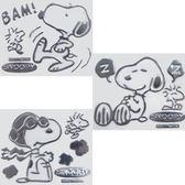 史努比 Snoopy 車用裝飾貼 立體貼紙 生氣 飛行員 睡覺 卡通造型 共三款 日本進口正版 131074