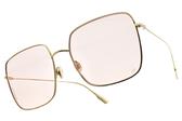 Dior 太陽眼鏡 STELLAIRE1 J5GJW (金-粉鏡片) 歐美時尚大方框款 墨鏡 #金橘眼鏡