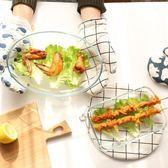 鋼化耐熱玻璃烤盤加熱盤微波爐耐高溫魚盤烤肉盤子家用餐具 挪威森林