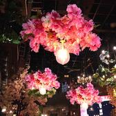 吊燈 繁花酒吧櫻花時尚主題餐廳咖啡廳酒館裝飾植物 現貨快出YJT