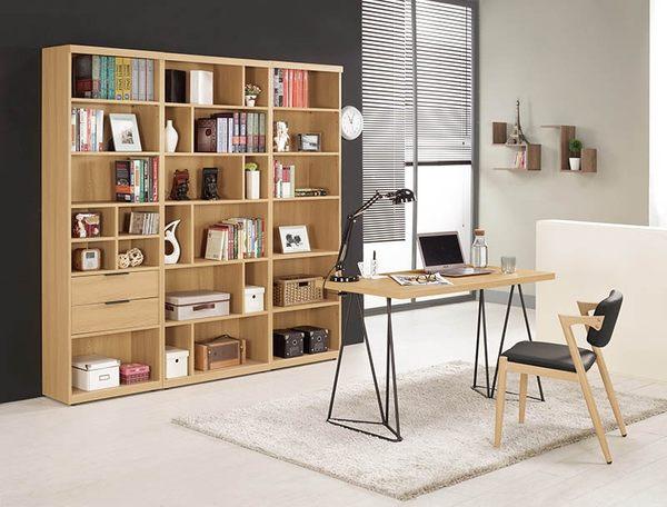 【森可家居】達拉斯4尺書桌 8CM886-2 (不含椅) 簡易工作桌 木紋質感 北歐工業風