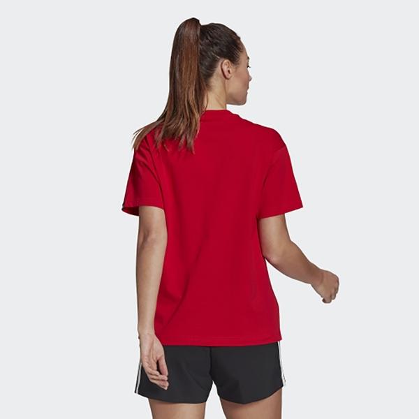 【現貨】ADIDAS W VALENTINE 女裝 短袖 休閒 情人節 愛心 箭頭 純棉 寬版 紅【運動世界】 GL0877