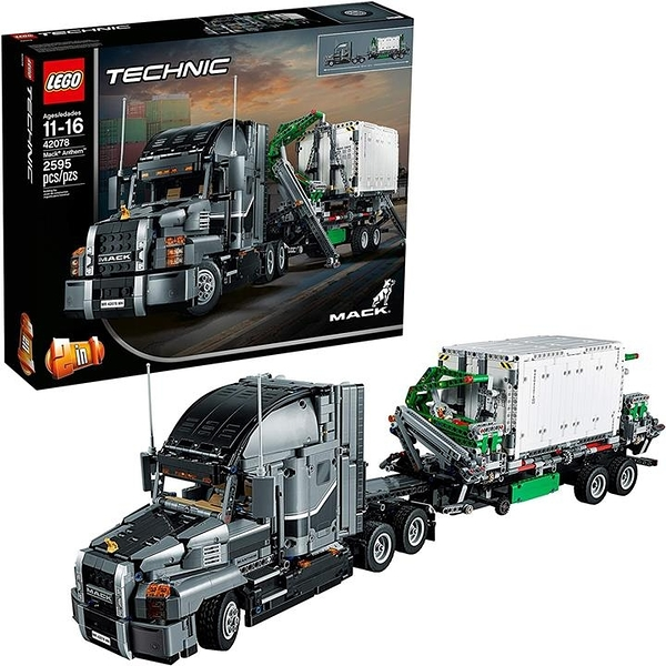 LEGO 樂高 Technic Mack Anthem 42078半卡車組裝套件和工程玩具(2595件)