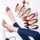 高跟鞋 春季新款高跟鞋女細跟韓版公主百搭尖頭裸色小清新少女單鞋秋 雙十二