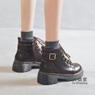 馬丁靴 女百搭新款英倫風厚底秋冬季女鞋靴子日系小加絨短靴 限時優惠