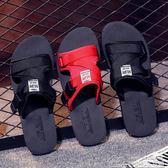 涼拖鞋男夏情侶款一字拖男士厚底防滑海邊度假沙灘鞋個性潮流 居樂坊生活館