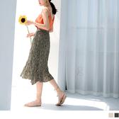《CA1937》浪漫碎花腰鬆緊皺皺裙 OrangeBear