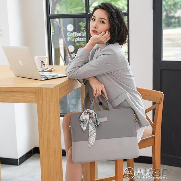 適用蘋果手提筆記本電腦包macbook女華為matebook14聯想戴爾15pro