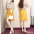 2020夏季新款氣質條紋小香風百搭半身裙很仙的裙休閒套裝裙兩件套女 yu12701『寶貝兒童裝』