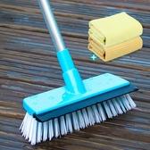 清潔刷 刷地刮水二合一長柄硬毛衛生間地板瓷磚刷洗廁所地磚刷子清潔神器