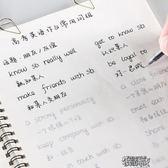 英語字帖高中生成人大學生初中生小學生手寫體意大利斜體街頭布衣